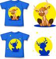 cute reindeer character - design shirt - i vector image