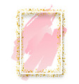 decorative square frame with glitter tinsel vector image