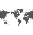 detailed map world in high vector image vector image