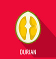 durian icon flat style vector image vector image