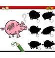 education shadows game cartoon vector image vector image