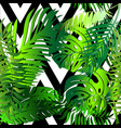 elegant palm leaves decorative seamless pattern vector image