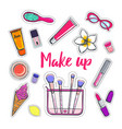 fashion and beauty stickers 2 vector image vector image