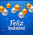feliz navidad seasons greetings on spanish vector image