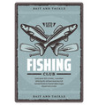 fishing club poster vector image vector image