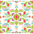 Floral damask seamless pattern background vector image