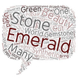 Gemstones 101 The Emerald text background vector image vector image