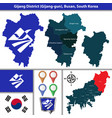 gijang district busan city south korea vector image vector image