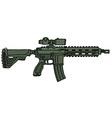 Green automatic gun vector image vector image