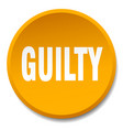 guilty orange round flat isolated push button vector image vector image