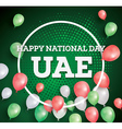 happy national day uae vector image vector image