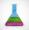 Infographics in the form of chemical test tubes vector image
