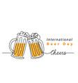 international beer day art background vector image