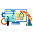 it process automation concept for web vector image vector image