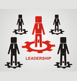 leadership concept vector image vector image