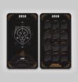 leo 2018 year zodiac calendar pocket size vertical vector image