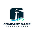 lighthouse logo lighthouse icon in trendy design vector image