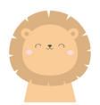 lion face head icon kawaii animal cute cartoon vector image vector image