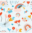 lovely childish seamless pattern very colorful vector image vector image