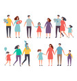 male and female couples children and family vector image vector image