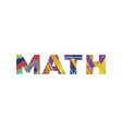 math concept retro colorful word art vector image