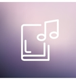 Music book thin line icon vector image vector image