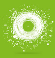 music of nature green sketch concept vector image