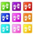 pair of paintball gloves set 9 vector image vector image
