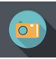 paper flat icon with a shadow photo camera vector image