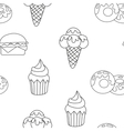 Pattern Ice Cream Cupcake donut Background of vector image vector image