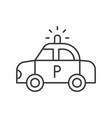 police car police related icon editable outline vector image vector image