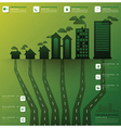 Pollution Tree And Root Infographic Design vector image