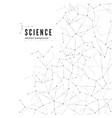 science abstract background big data vector image vector image
