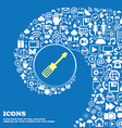 screwdriver icon Nice set of beautiful icons vector image vector image