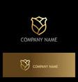 shield gold abstract logo vector image