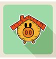 Sketch style real estate piggy bank vector image