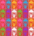 Skull pattern background vector image