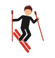 snow ski isolated icon design vector image vector image