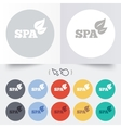 Spa sign icon Spa leaves symbol vector image