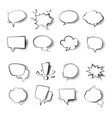 speech bubbles templates isolated icons comics vector image