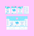 stock design of boxes for milk vector image vector image