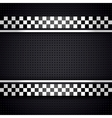 Structured metallic perforated for race sheet gray vector image