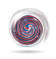swirly usa colors icon vector image