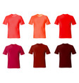 t shirt design template set men shirts red color vector image vector image