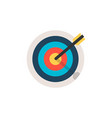 target icon sport or business concept vector image vector image
