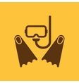 The scuba mask and flippers icon Diving symbol vector image