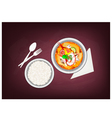 Tom Yum Goong or Thai Spicy Sour Soup vector image vector image