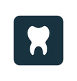 tooth icon Rounded squares button vector image