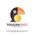 toucan macaw bird logo design vector image vector image