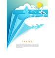 travel poster banner template vector image